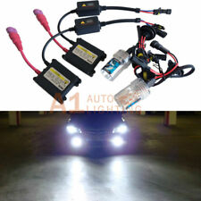 H1 6000K Xenon HID Kit 35W Digital System Crystal White DC Slim Ballasts A1