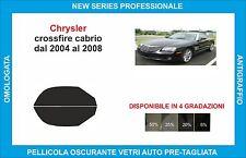 pellicole oscuranti vetri chrysler crossfire cabrio dal 2004-2008 kit anteriore