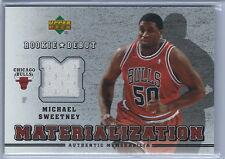 2006-2007 Rookie Debut Basketball Michael Sweetney  Chicago Bulls Jersey Card