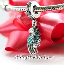 Authentic Pandora Tropical Parrot #791903ENMX Dangle Charm *Summer Collection*