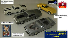 Lot de 3 beaux modèles U.S.A. des années 1960-1970 ROAD SIGNATURE ECH 1/43