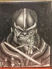 THANOS vs SILVER SURFER 14X17 Sketch NOT A PRINT By Arsenio Echevarria !!