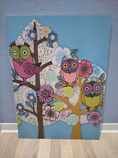 Extremely Beautiful Owl Picture Hanging 700 x 500 MM