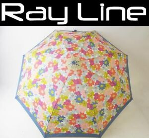 100% Auth Coach Folding Umbrella Blue Flower Pattern Mint (USED)