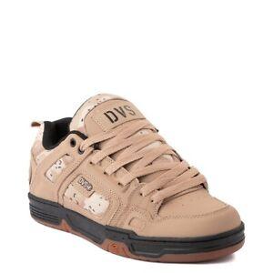 Mens DVS Comanche Skateboarding Shoes NIB Tan Camo Black Leather