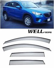 For 13-UP Mazda CX-5 WellVisors Side Window Deflector Visors With Black Trim
