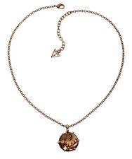GUESS COLLANA/collier con ciondolo ubn80909 braun-rotvergoldet