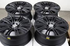 16 4x100 4x114.3 Matte Black Rims Fits Scion Xa Xb Pontiac G3 G5 Cobalt Wheels