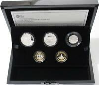 2015 United Kingdom Silver Proof Piedfort Five Coin Set