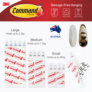 3M Command Picture Hanging Refill Strips For Hooks MEDIUM & LARGE (2-28pc)