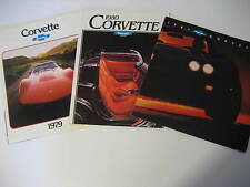 1979, 1980 & 1981 Chevrolet Corvette Brochures