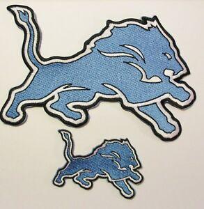 "(1) 7"" X 5"" NFL DETROIT LIONS FOOTBALL LOGO (BACK OF JACKETS) LOGO + SHIRT PATCH"