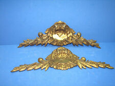 "13,58"" Pair of pediment in solid bronze Louis XVI style"