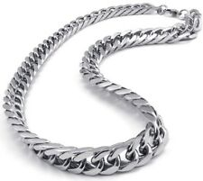 10mm 24'' Pure Stainless Steel Polished Curb Link-chain Necklace Silver For Men