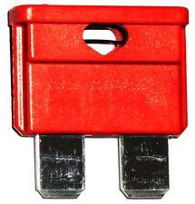 10 x Fusibles MIDI 10A 6V 12V 24V 32V 19mm para coche, vehículos Color: rojo