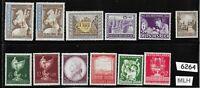 #6264     MLH Germany Mixed Postage stamp set Adolph Hitler Third Reich era