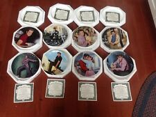 Elvis Young And Wild Plate Collection Complete Set w/coa