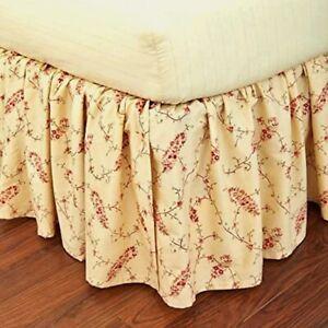 NIP $220 Ralph Lauren KING Bedskirt Mirabeau Paisley Multi Color/Cream Cotton