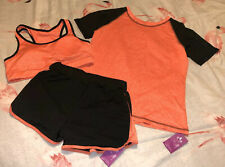 Exercise Running Set Top Shorts And Crop Top Size 10 New