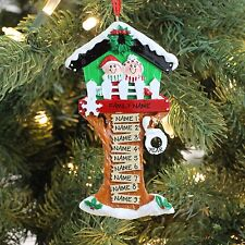 Christmas Tree House Grandchild of 9 Grandparends Couple Personalized Ornament