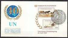 United Nations Vienna 1985 FDC cover Oil paintings by artist Andrew Wyeth