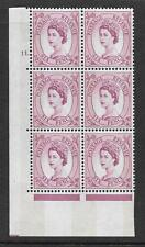 6d Wilding Violet Phosphor 9.5mm cyl 11 Dot perf type A(E/I) UNMOUNTED MINT