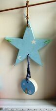 Handmade Wood Star Moon Hanging Mobile Baby Child Boho Chic decoration garden
