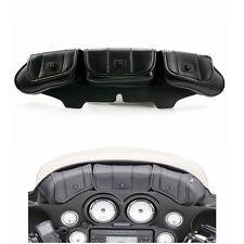 3 pochettes Motor Sac noir pare brise Pour 96-13  Harley Electra Street Glide