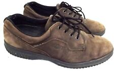ECCO Soft Women's Shoes,  Size 9 M EU 40, Brown Suede Leather Tie on Shoe