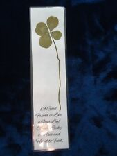 Genuine Giant Four 4 Leaf Clover Laminated Lucky Charm Bookmark Shamrock (9)