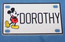 Vintage Walt Disney Prod. Mickey Mouse Dorothy Plastic Name License Plate