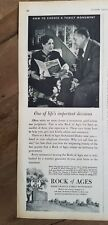 1950 Rock of Ages Barre granite  burial monuments life's important decision ad