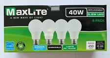4 Maxlite Dimmable LED Daylight Light Bulb 5.5-Watt 40 Watt replacement 5000k