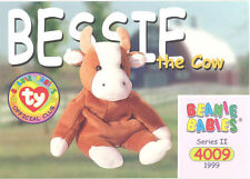 Ty Beanie Babies Bboc Card - Series 2 Common - Bessie the Cow - Nm/Mint