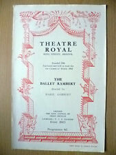 1952 BALLET RAMBERT Programme- Swan Lake,Judgment of Paris,Winter Night,Fat's Re