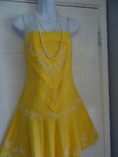 Stunning Ladies Ted Baker  Yellow  Summer  Dress  Sz 3 (12/14)