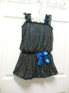 Dance Costume Designer Sample Medium Child Twinkleknit Blue underlayer