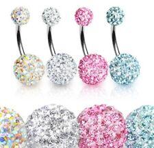 Bauchnabel Piercing mit schönen Kristallen HNSD1001-AB