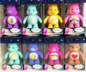 CARE BEAR MINI FLOCKED COLLECTIBLE FIGURES 7CM - CHOICE OF 8 FAVOURITE BEARS-NEW