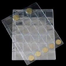 1 Hojas para 30 Cartones Transparentes Sobres Cartera Colección Monedas SA
