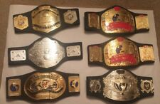 WWF WWE Lot of 6 Championship Belts Kids Play Replica Jakks Vintage