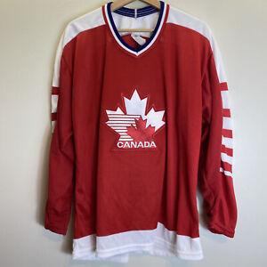 Vintage Canada National Team CCM Air Maska Red Hockey Jersey Sz L