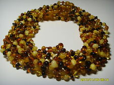 Lot of 10 Baby  Colour Mix Genuine Baltic Amber necklaces 38,36gr. F-166