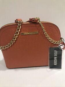 New STEVE MADDEN Women's BMAGE-SM CROSSBODY Handbag Purse  PAPAYA DT611205