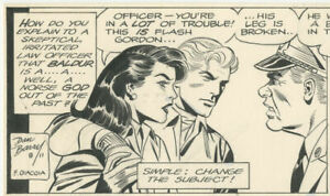 Dan Barry - Flash Gordon dailies, August 11-12, 1986, NO RESERVE!