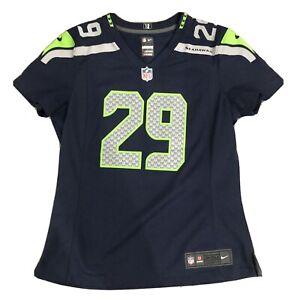 Nike NFL Seattle Seahawks #29 Earl Thomas Football Jersey Navy Small Women's
