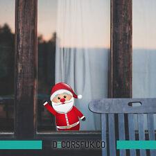 FUNNY Santa Natale adesivi-Natale Windows ADESIVI-Santa ADESIVI