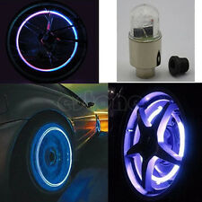 Motor Cycling Bike Car Bicycle Tyre Tire Valve LED Lights Bulbs Battery Include