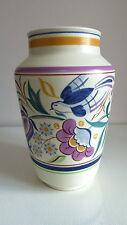 "VINTAGE anni 1950 Poole Pottery Floreale 5/5 - 8"" VASO-TV Bluebird/Diane Holloway"