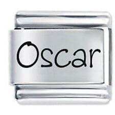 OSCAR Name - 9mm Daisy Charm by JSC Fits Classic Size Italian Charms Bracelet
